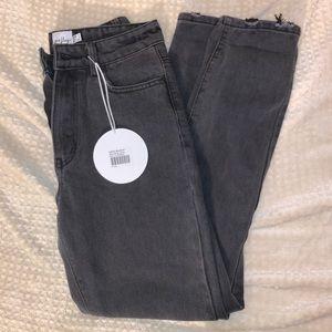 Princess Polly black jeans size 4